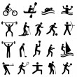Stock Vector: Sports silhouettes
