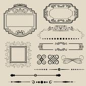 Ornamental borders and frames — Stock Vector