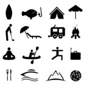 Sports and recreation icons — Stock Vector