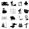 Leisure and fun icons — Stock Vector