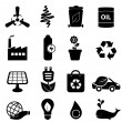 Clean energy and environment icons — Stock Vector