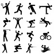 Sports and athletics icons — Stock Vector