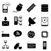 Computer and technology icons — Vector de stock