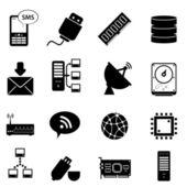 Bilgisayar ve teknoloji simgeler — Stok Vektör
