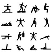 Fitness and exercise icons — Stock Vector