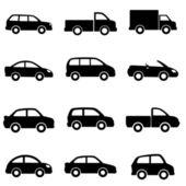 Automóviles y camiones — Vector de stock