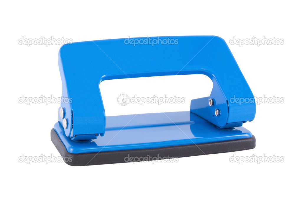 Hole punch of blue color on a white background. — Stock Photo #9661852