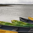 Colorful canoes — Stock Photo #10221322
