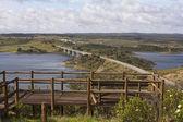 Bridge in the Alqueva lake — Stock Photo
