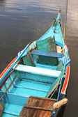 Blue Boat Bateira — Stock Photo