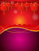Vector Chinese poster theme — Stock Vector