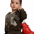 Boy with boxing gloves — Stock Photo #8133024