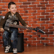 Stock Photo: Boy with electric guitar