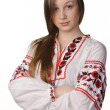 Girl in Ukrainian national costume — Stock Photo #8806736