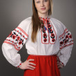 Girl in Ukrainian national costume — Stock Photo