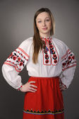 Girl in Ukrainian national costume — Stock Photo