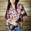Stock Photo: Cowgirl