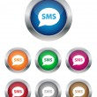 SMS buttons — Stock Vector