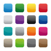 Blank square buttons — Stock Vector