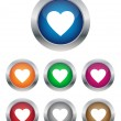 Heart buttons — Stock Vector #8275575