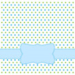 Royalty-Free Stock Imagen vectorial: Polka dot design frame