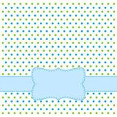 Polka dot design frame — Stock Vector