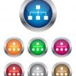 Network buttons — Stock Vector