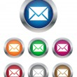 Email buttons — Stock Vector #9775484