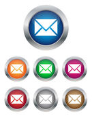 Email buttons — Stock Vector
