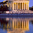 Jefferson Memorial and Tidal Basin Evening - Stok fotoğraf
