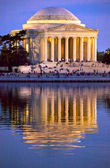 Jefferson Memorial and Tidal Basin Evening — Stock Photo