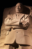 Martin luther king memorial nacht washington dc — Stockfoto