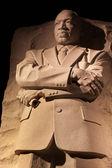 Martin luther king památník v noci ve washingtonu — Stock fotografie