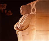Martin Luther King Memorial Cherry Blossoms Evening Washington D — Stockfoto