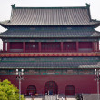 Stock Photo: Red Drum Tower Beijing China
