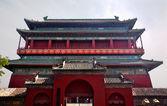 Red Drum Tower Beijing China — Stock Photo