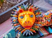 Mexican Colorful Souvenir Ceramic Lion San Diego Calfornia — Stock Photo