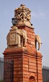 Stone Elephants Rashtrapati Bhavan Gate Official Residence Presi — Stock Photo