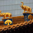 Gold Elephants Roof Top Jing An Temple Shanghai China — Photo