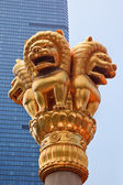 Golden Lions Jing An Temple Shanghai China — Stock Photo