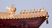 Golden Roof Top Figurines Jing An Temple Shanghai China — Stock Photo