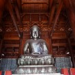 Foto de Stock  : Silver Buddhin Wooden Hall Jing Temple Shanghai China