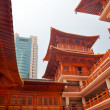 Stock Photo: Wooden Buildings Hallsl Jing Temple Shanghai China