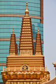 Golden Temples Roof Top Jing An Temple Shanghai China — Foto de Stock