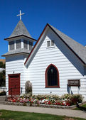Small White Christian Church Palouse Washington State — Foto de Stock