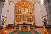 Golden Altar Mission Basilica San Juan Capistrano Church Califor — Stock Photo