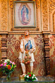 Juan Diego Statute Guadalupe Shrine Mission Basilica San Juan Ca — Stock Photo