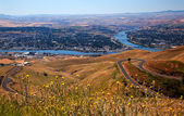 Lewiston Hill Snake River Idaho — Stock Photo