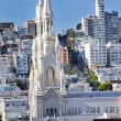 Stock Photo: Saint Peter Paul Catholic Church Steeples Houses SFrancisco C