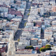 Stock Photo: St Peter and Paul Church Hill Apartment Buildings SFrancisco